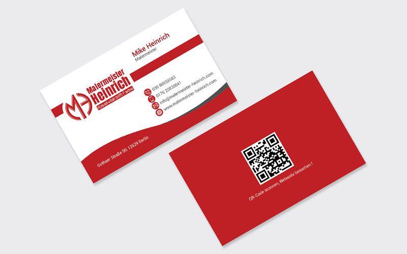 Logo Design Visitenkarte Maler